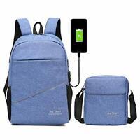 Mode USB Set Schulrucksack Schultasche Sport Rucksack mit USB Ladeanschluss DHL