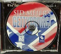 Sid Meier's Gettysburg! 1997 EA  - PC Game CD ROM Disc, Case Mint Disc