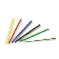 24PCS Multicolor 2.54mm 40Pin Color Male Single Row Pin Header for Arduino DIY