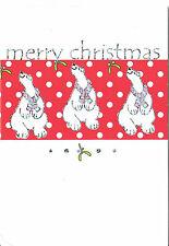 Christmas Holiday Cards Jill Payne Polar Bear Best Wishes Christmas & New Year