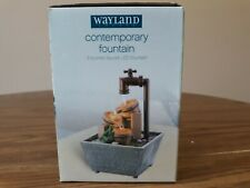 WAYLAND SQUARE CONTEMPORARY FOUNTAIN 3 BUCKET FAUCET LED FOUNTAIN