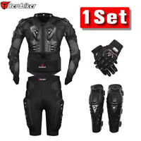 Motorcycle Body Jacket Suit Moto Racing Protective Armor Gear Full Set HEROBIKER