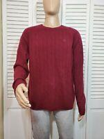 Brooks Brothers Men's Maroon 100% Wool Sweater Size XL