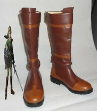 The Legend of Zelda Link Anime Brown Costume Shoes Cosplay Boots Boot Shoes Shoe