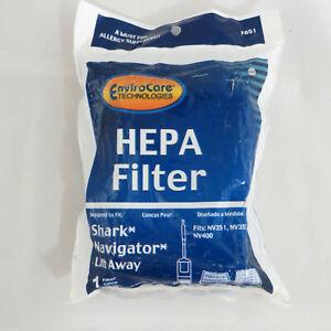 EnviroCare F651 HEPA Filters for Shark Navigator NV351 NV352 NV355 NV356 NV400