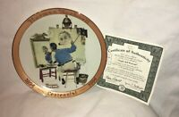 "Norman Rockwell ""Triple Self Portrait"" Plate, Rockwell Commemorative Stamps"