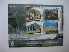 NEW ZEALAND USED MINIATURE SHEET-2004 SINGAPORE STAMP EXHIBITION SG MS 2731