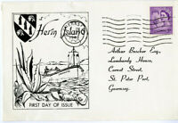 Herm Islands Stamps Scarce 1963 Cachet First Day Cover