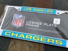 1 Los Angeles Chargers Chrome Laser Cut License Frame