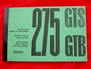 Ferrari 275GTB &GTS, Spare Parts Manual c.1966, It/Fr/En Text - OFFICIAL REPRINT