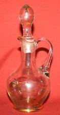 Vintage Gilded Clear Glass Decanter Pitcher Jug