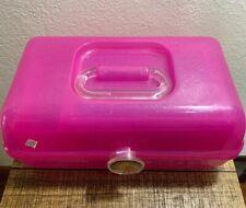Vintage Pink Glitter Caboodle Makeup Case Organizer Model #2622  Sparkle! A+cond