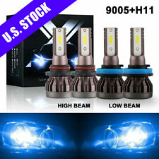 New Listing4X 8000K Led Headlight Cree Bulbs for Toyota Tundra 07-13 High Low Beam 9005 H11