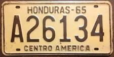 Old Photo. 1965 Honduras License Plate A26134