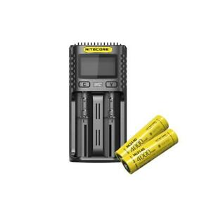 Value Bundle: NITECORE UMS2 intelligent USB dual-slot Charger w/two NL2140 21700