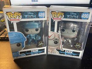 Funko POP! Disney Movies Metallic Glow in the Dark #489 Tron & #490 Sark -CHASE