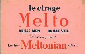 Buvard vintage le cirage Melto