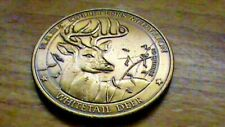 N.A.H.C.~White Tail Deer Collectors Medallion~silver dollar size~BRONZE