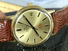 1976 Omega Automatic Ref.166.0163 Cal.1012 Vintage Date Original Dial WORKING