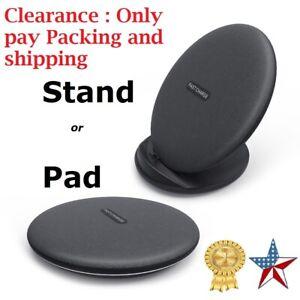 FAST WIRELESS CHARGER -USA Brand -Stand/ Pad 10W 7.5W Apple Samaung LG -AETXTRA