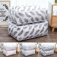 Foldable Storage Bag Clothes Blanket Quilt  Pillow Blanket Organizer Pouch Box