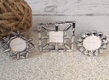 Pottery Barn Elsa Frozen Mini Jeweled Picture Frames Set Snowflake Faux Diamond