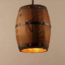 Wood Wine Barrel Hanging Fixture Ceiling Pendants Lamp Lighting Bar Cafe Light