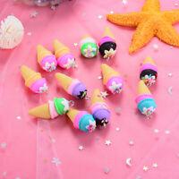 10PCS Polymer clay Ice Cream Charms Pendant Craft DIY Findings Jewelry Maki YE