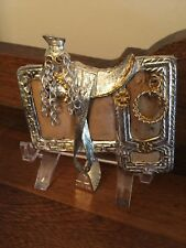 Grupo Diana Mexico Handmade Unique Saddle Belt Buckle Stirrups Lasso Move Skin