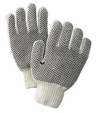 One Dozen Pair Radnor Small White PVC Dot Grip Work Gloves