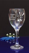 Personalizado Minnie Mouse n Pastel Feliz Cumpleaños grabado Copa De Vino/por jevge 46
