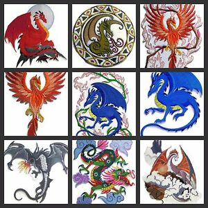 Beauty Of Dragon No.  ll  Embroidered Iron On Patches