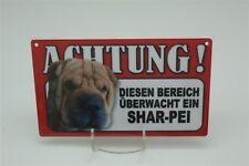 SHAR-PEI - Tierwarnschild - VORSICHT Warnschild 20x12 cm 40  HUND SHARPEI