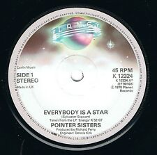 """THE POINTER SISTERS 'Everybody Is A Star' NEAR MINT 7"""" Vinyl single UK 1978"""
