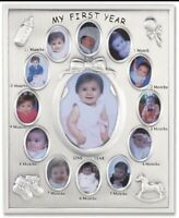 """My First Year"" Photo Frames- Holds Twelve 1½""×1"" and One - 3x4 Photo Lawrene"