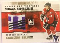 2009-10 ITG Heroes & Prospects Subway Super Series Emblem Silver Brandon Gormley