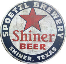 Shiner Beer Shiner texas Vintage Reproduction Metal sign 8 inch round