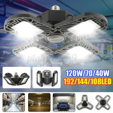 E27 Deformable LED Garage Lights 120W 12000 Lumens Workshop Ceiling Bulbs Lamp