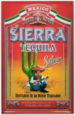 Tequila Sierra Silver embossed steel sign   300mm x 200mm (hi)