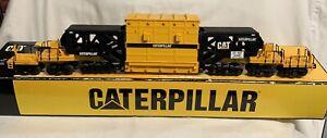 ✅MTH PREMIER CATERPILLAR SCHNABEL FLAT CAR 20-98376! CAT CONSTRUCTION O SCALE