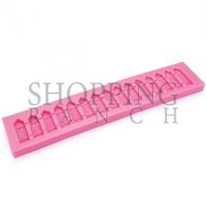 Fence Panels Silicone Mould Fencing Mold Cake Edging Topper Decoration