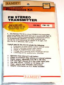 Ramsey UNBUILT Kit FM-10 FM Stereo Transmitter