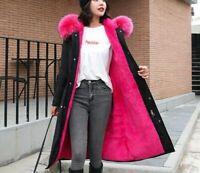 Plus Size Winter Jacket Women Fur Collar Slim Long Coat Thick Warm Hooded Parkas