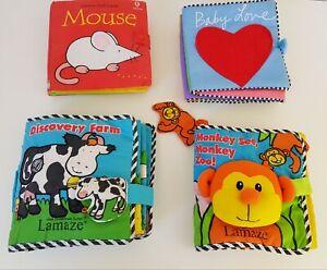 Lamaze, Usborne Baby Soft Books x 4