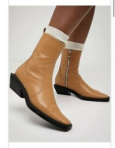 Sportsgirl Brown Camel Tan Western Cowboy Ankle Boot 9