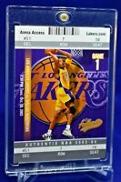KOBE BRYANT FLEER AUTHENTIX STUB 2003-04 SP LOS ANGELES LAKERS HOF CLASS 2020