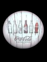 Coca-Cola Evolution Whitewashed Key Storage Box Bottle History Wood - BRAND NEW