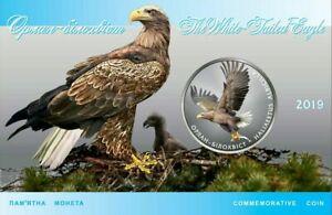 2019 #10 Ukraine Coin 2 UAH Haliaeetus Albicilla White-tailed eagle in Booklet