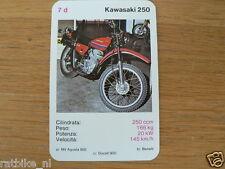 EASY RIDER 7D KAWASAKI 250 KWARTET KAART, QUARTETT CARD,SPIELKARTE