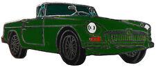 MG MGB chrome bumper car cut out lapel pin - Green